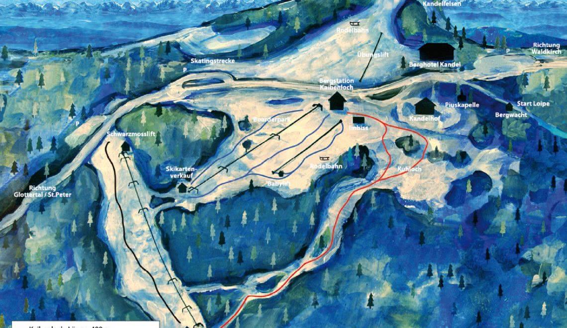 Karte der Lifte der Kandel Skilifte