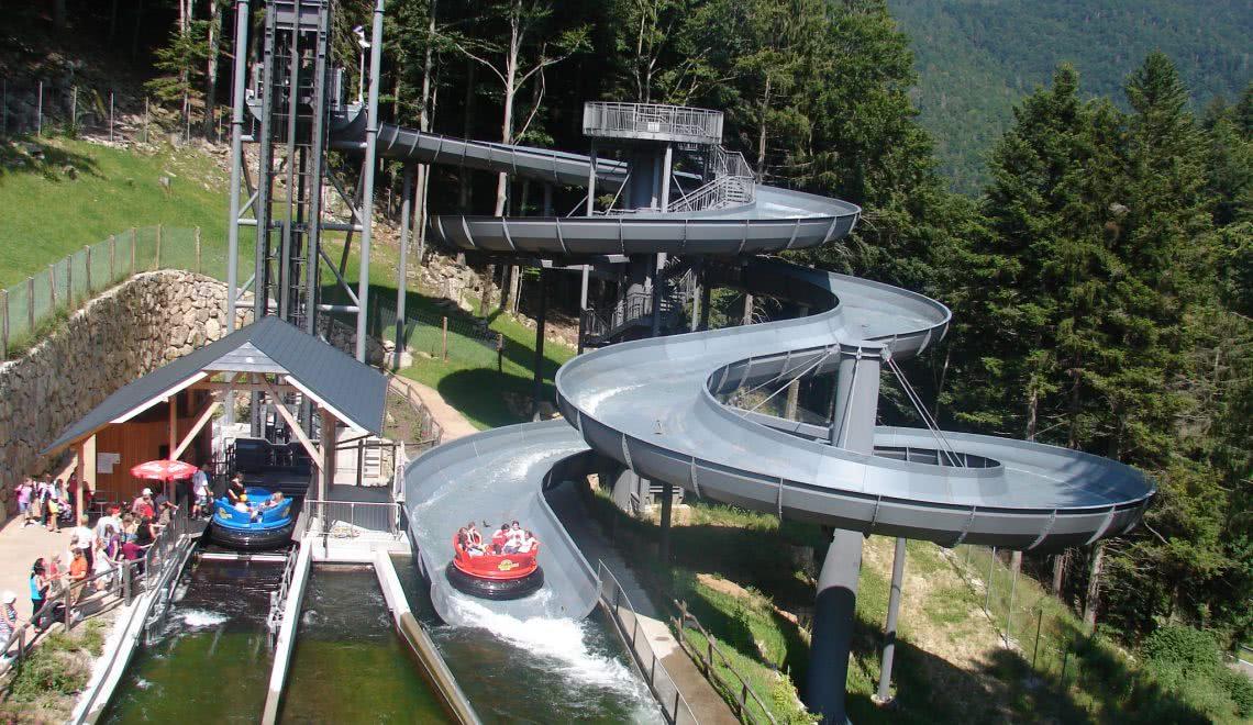 Raftingbahn im Steinwasenpark in Oberried