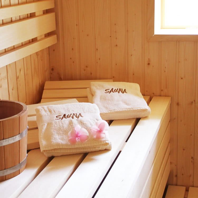 Finnische Sauna der Pension am Rain