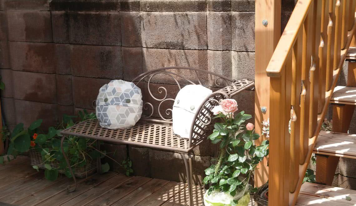 Schmiedeeiserne Metallbank im Garten der Ferienwohnung Blumenmatte in der Pension am Rain in Winden im Elztal