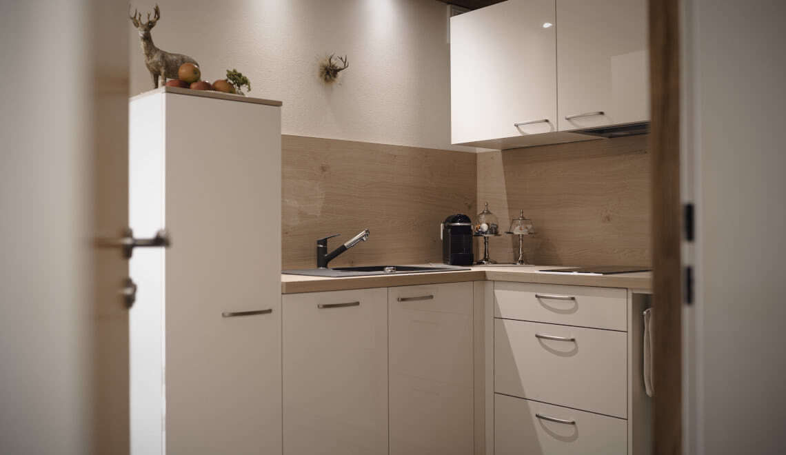 Küche Apartment Sonnenterrasse - Pension am Rain