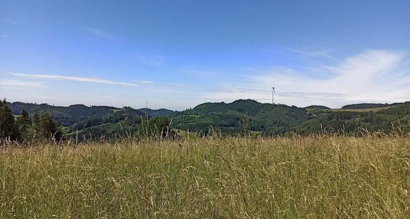 Ausblick vom Röscheneck auf der Schewangeneck-Tour