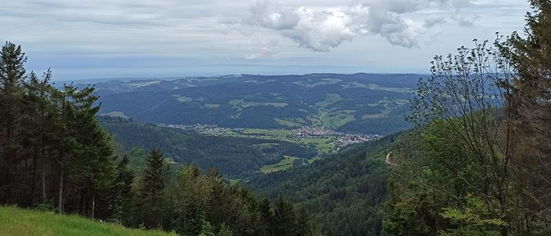 Aussicht vom Tafelbühl auf der Hörnleberg Wanderung