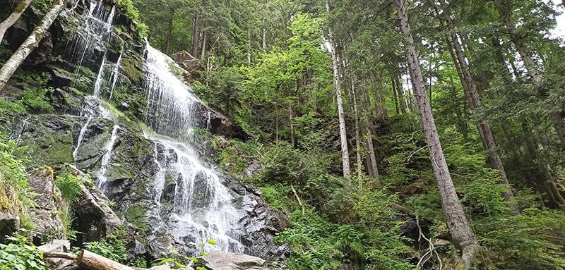 Unterer Teil der Zweribach Wasserfälle