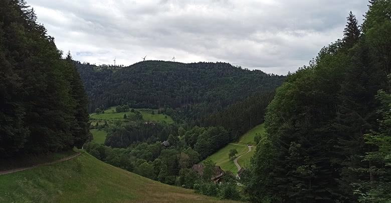 Aussicht vom Wanderparkplatz Zweribachfälle