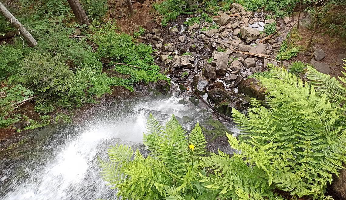 Zweribach Wasserfälle von oben
