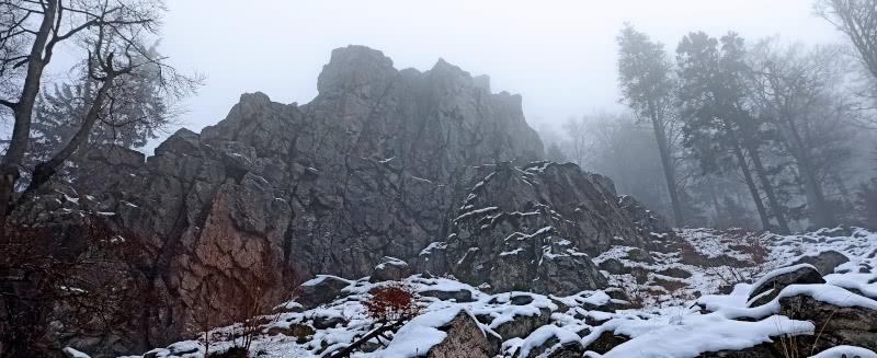 Kandelfelsen im Winter