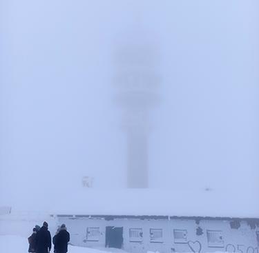 Vernebelter, alter Feldbergturm