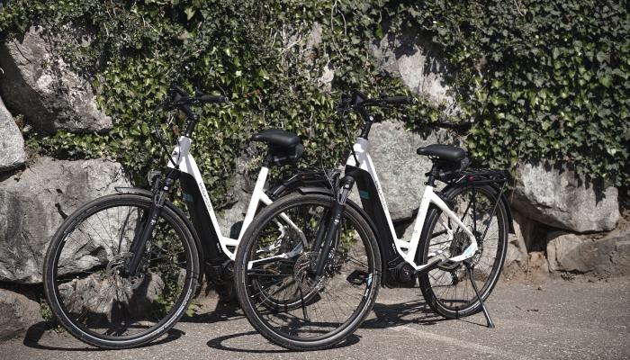 Miet-E-Bikes der Pension am Rain